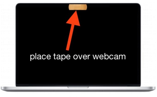 place tape over webcam
